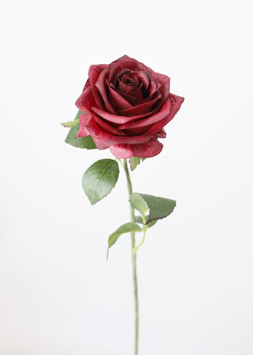 Burgundy Fake Rose Flower