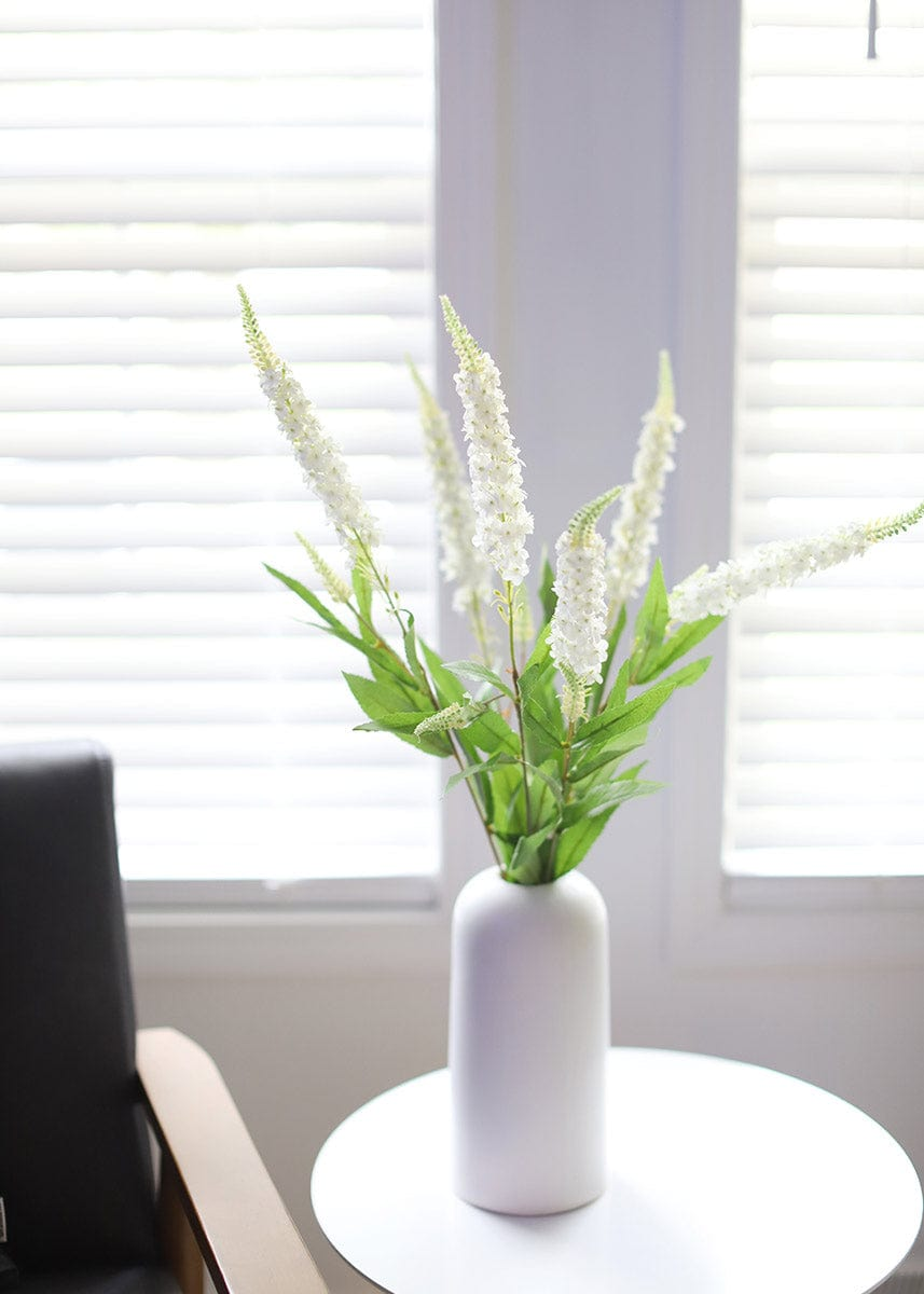 White Veronica Flowers in Vase