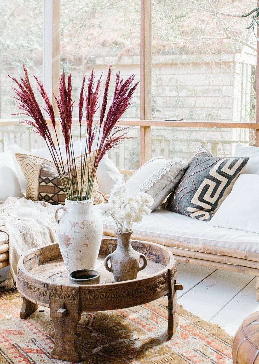 Burgundy Reed Grass Styling