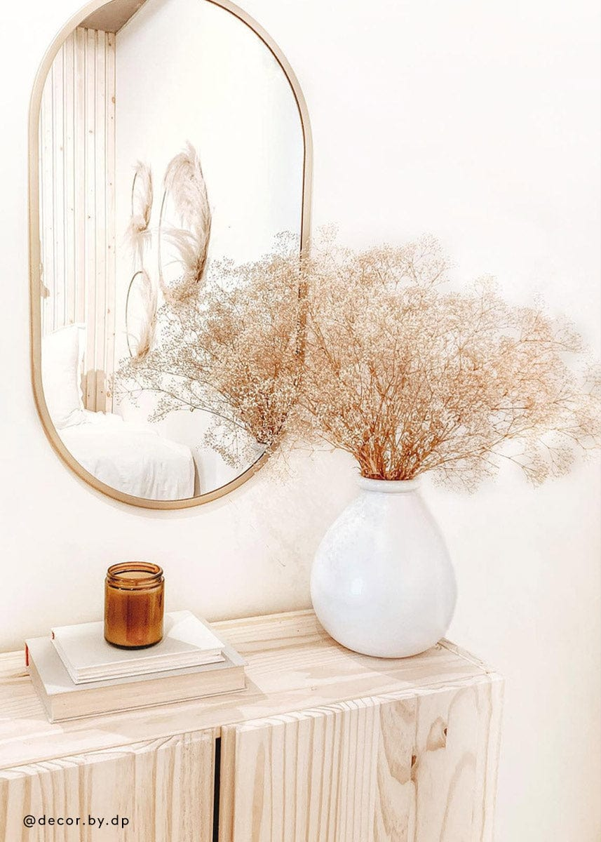 dried gypsophila in boho home decor