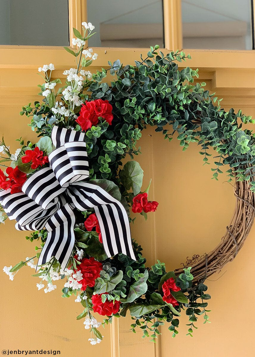 Rustic Door Wreath with Fake Eucalyptus