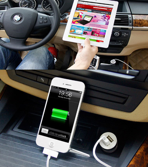 Car Charger Smart Fuse For iPhones + iPads And MORE!