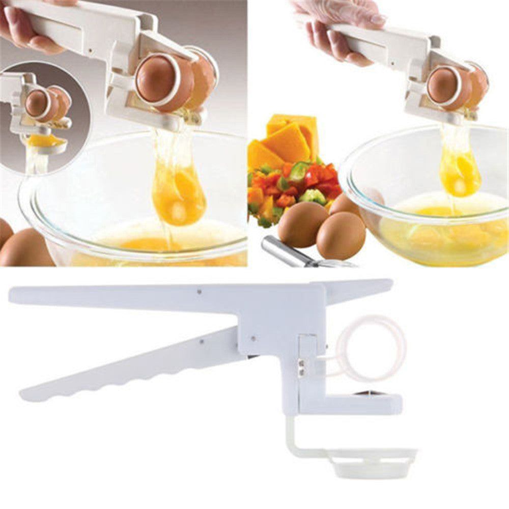 """Egg Cracker"" Handheld Egg Cracker Yolk Separator"
