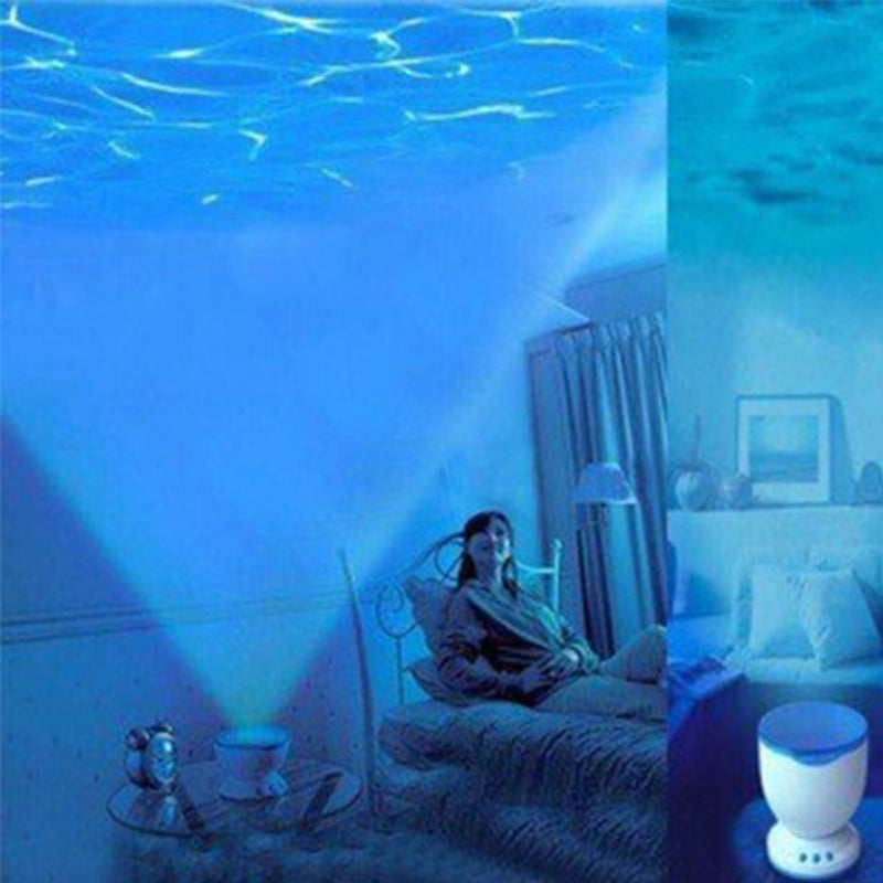 Water Wave Projector with Mini Speaker