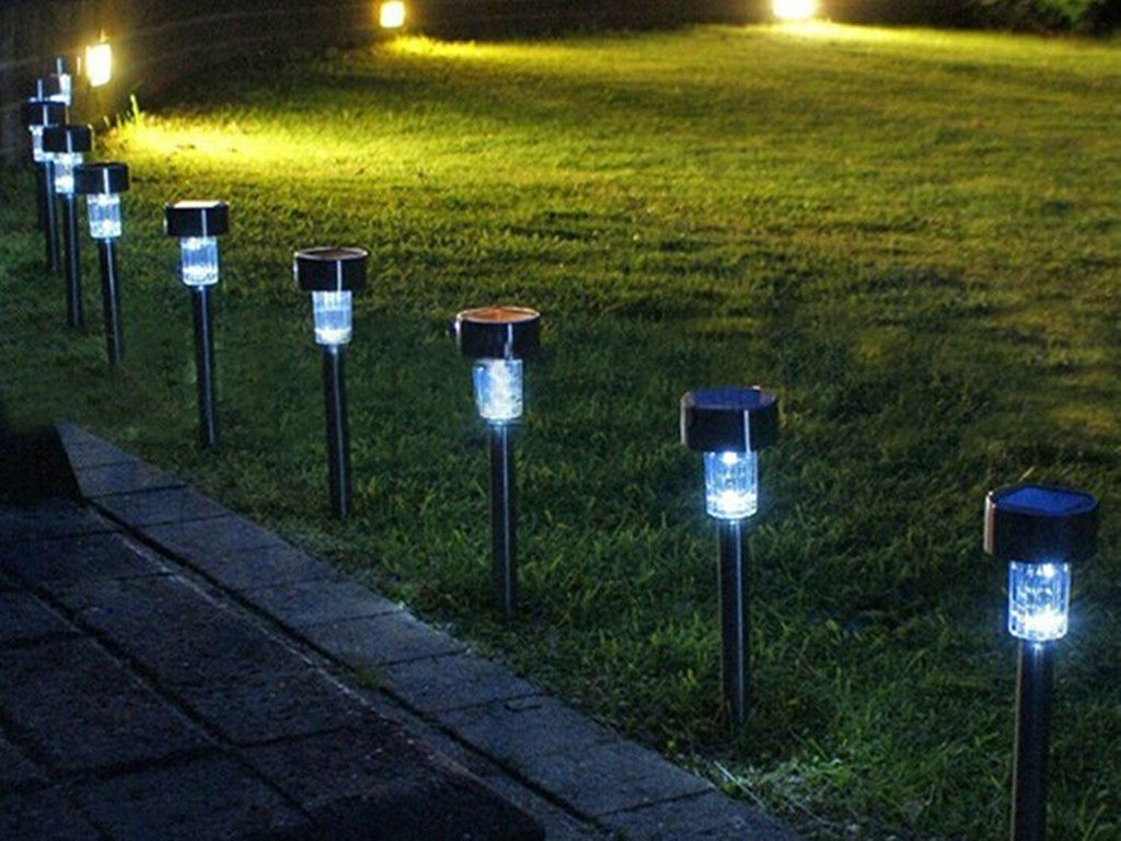 """Path Lamp"" 10 Piece Solar Powered LED Lamp"