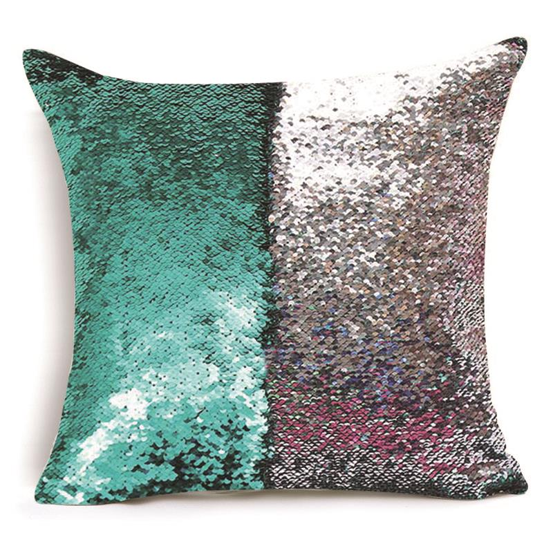 Reversible Sequin Pillow Cover