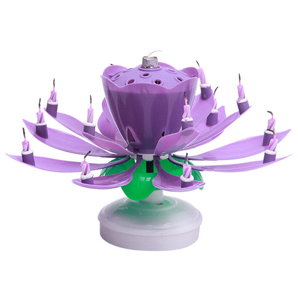 Blossoming Lotus Flower Candle