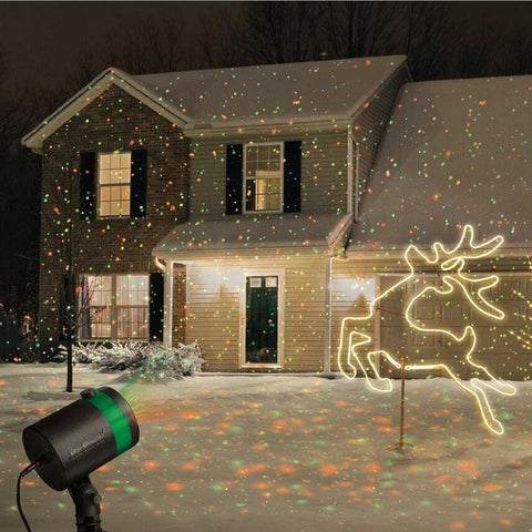LED Outdoor Laser Projector - Create Your Own Winter Wonderland - (WATERPROOF)