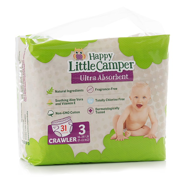 Happy Little Camper size 3 diapers