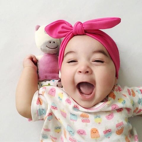 Cute Baby Girl Laughing