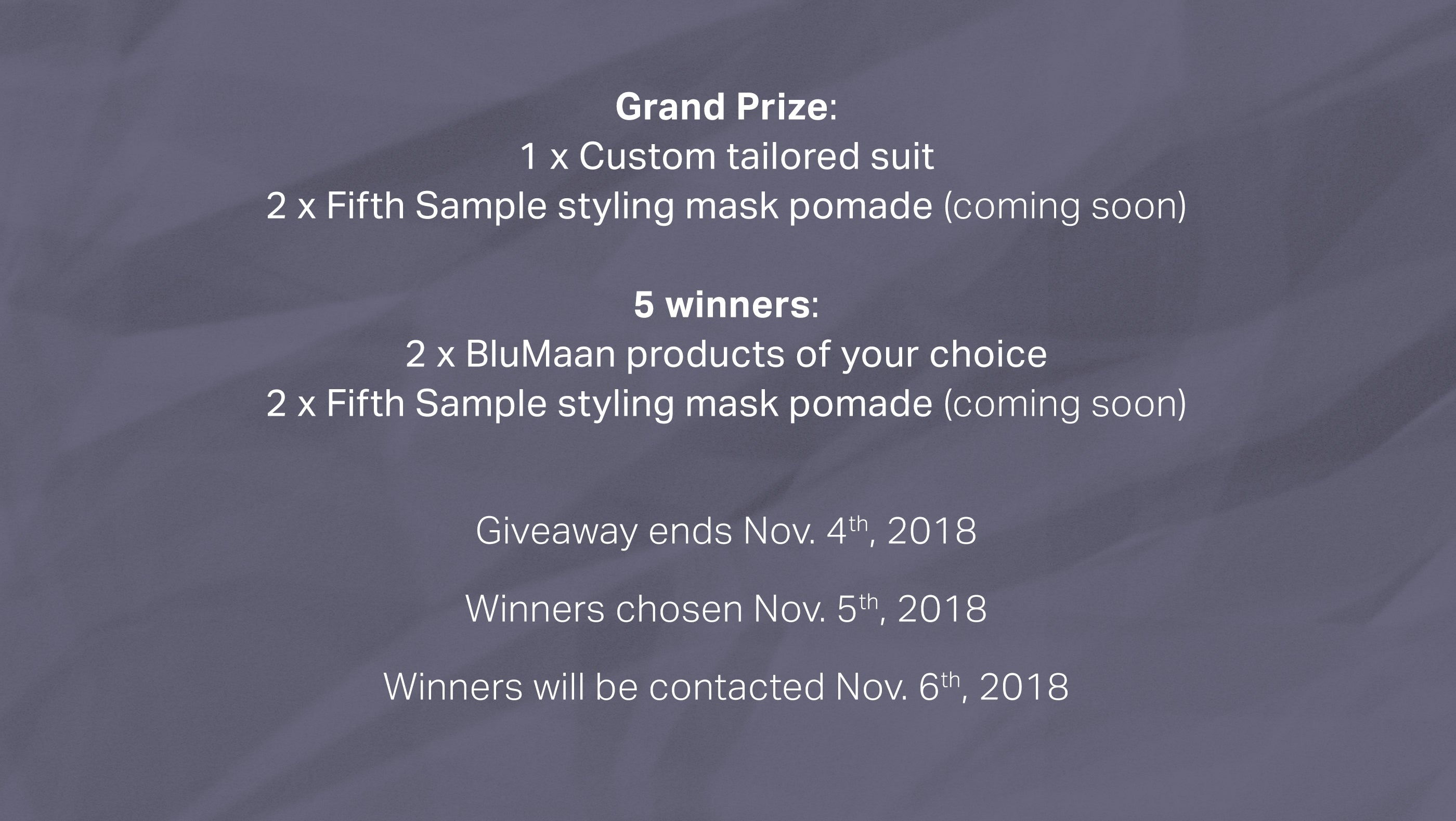 BluMaan Slick Hair & Dapper Giveaway