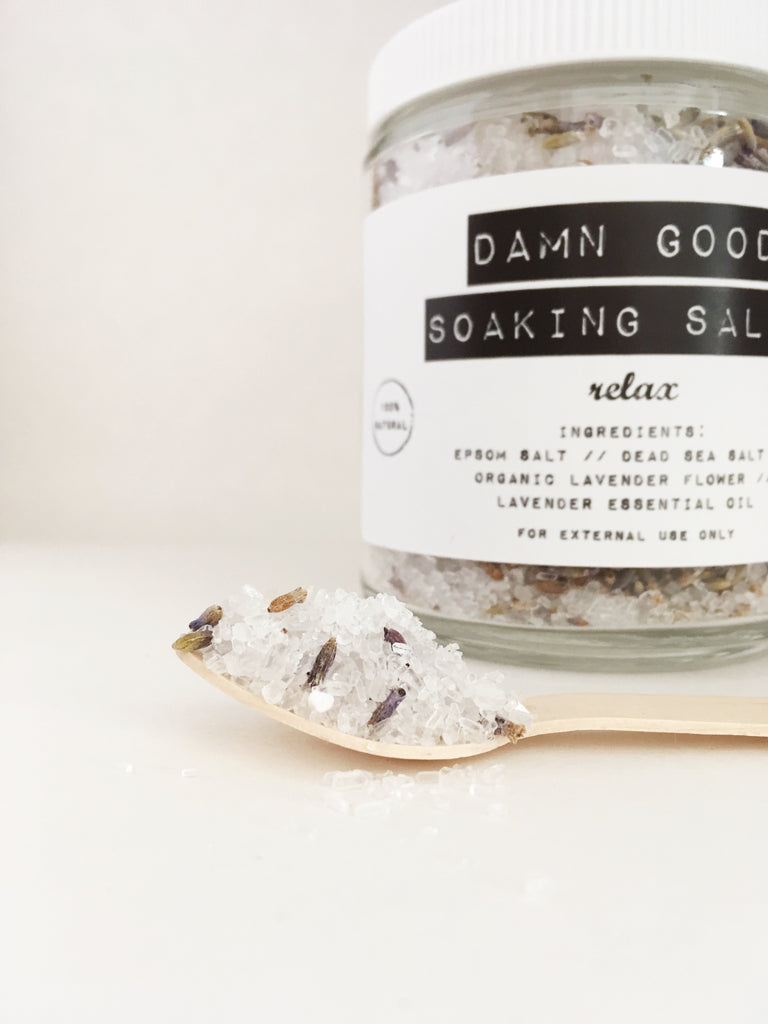 Damn Good Soaking Salts // Relax