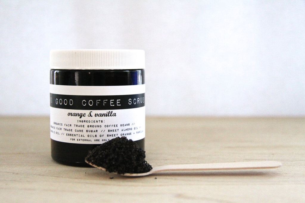 Damn Good Coffee Scrub // Orange + Vanilla