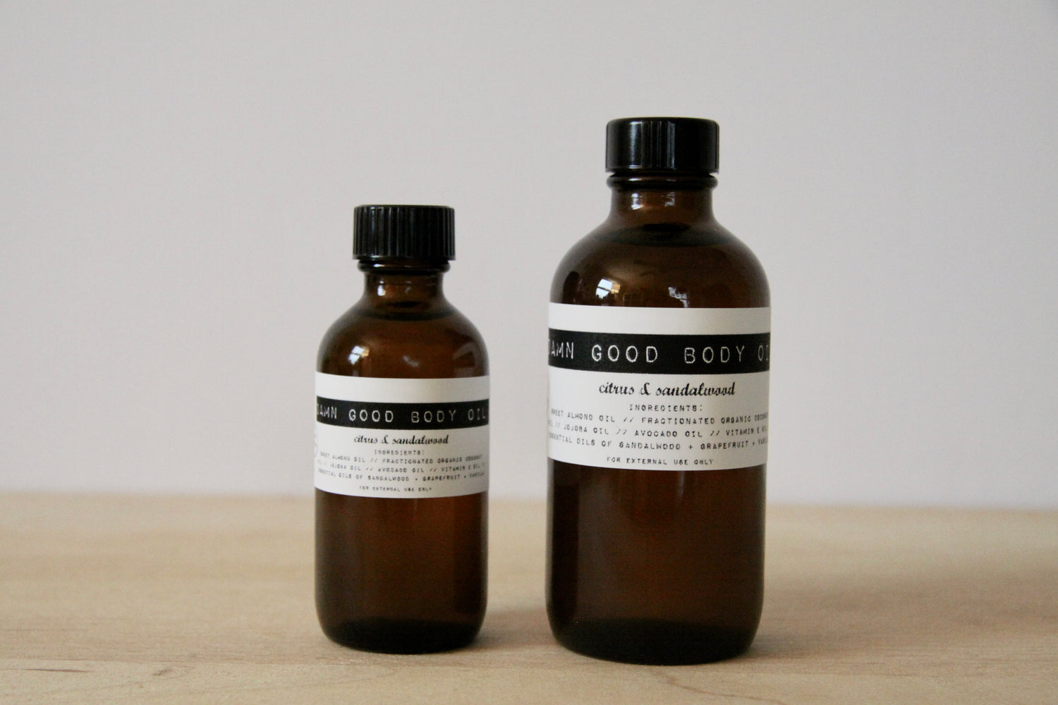 Damn Good Body Oil // Citrus + Sandalwood