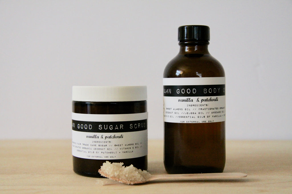 Damn Good Sugar Scrub // Vanilla + Patchouli