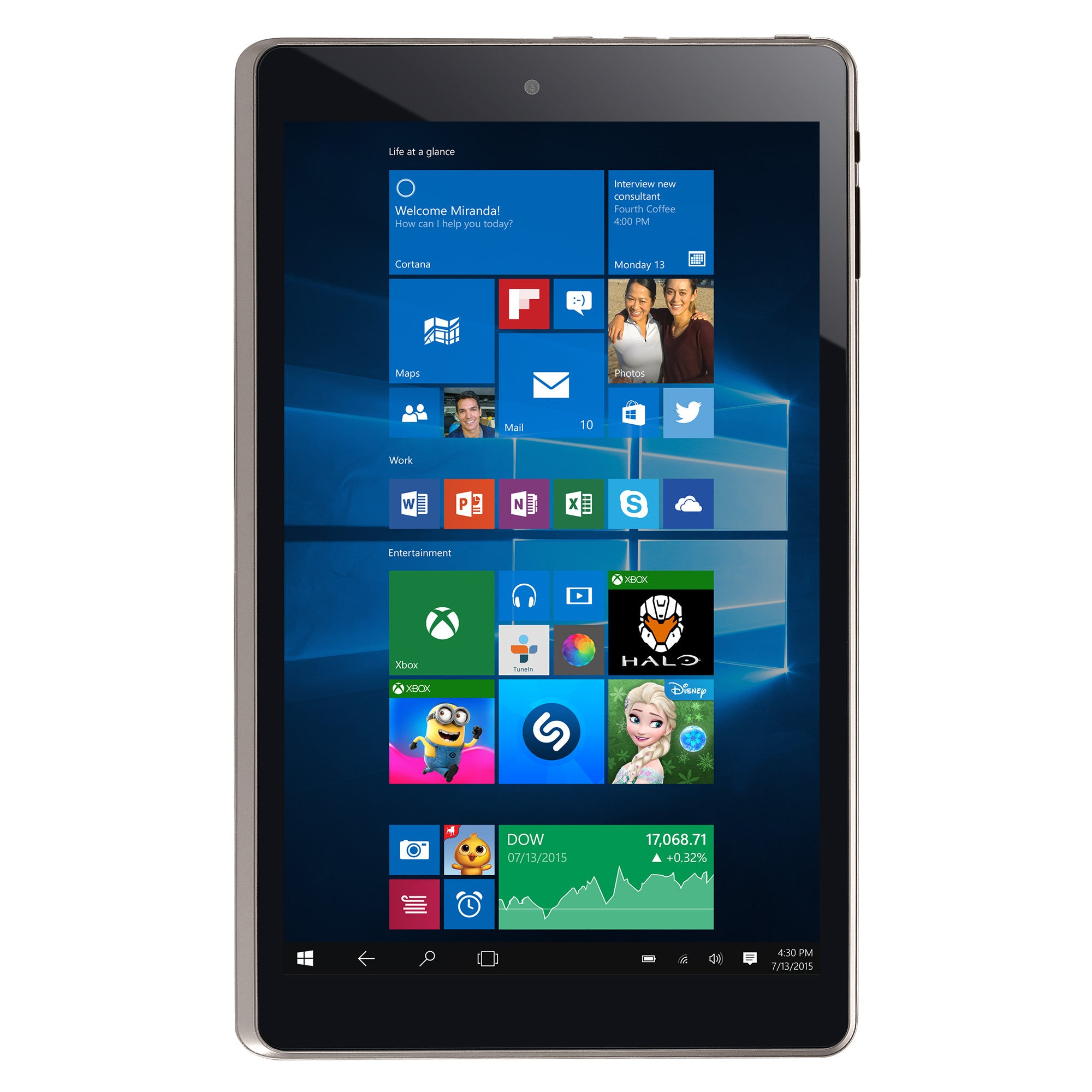 "TM890W515L 10.1"" hybrid 2-in-1 Windows 10 Tablet"