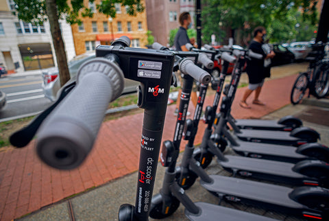 DC Scooter - daily scooter rental company in Washington DC uses M4M Private Fleet Platform