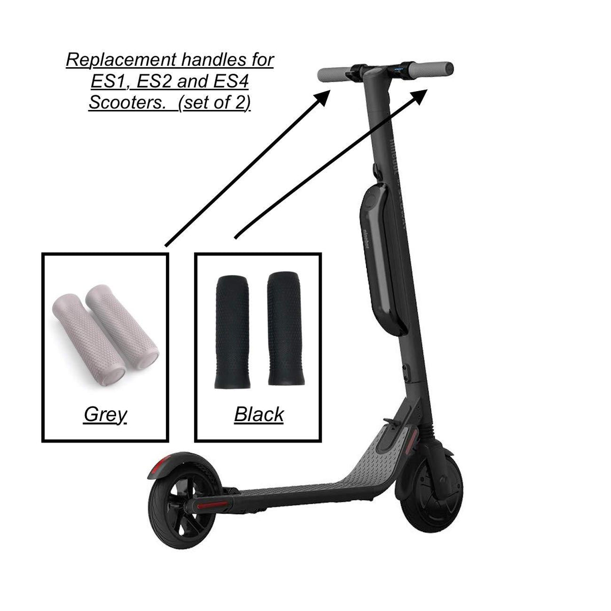 Replacement Handlebar Grips for Segway Kick Scooter ES1, ES2 and ES4
