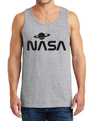 Men's NASA with Saturn Design Heavy Cotton Tank Tops – XS ~ 3XL