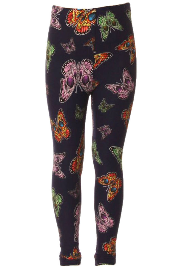 Kid's Colorful Butterfly Insect Pattern Printed Leggings