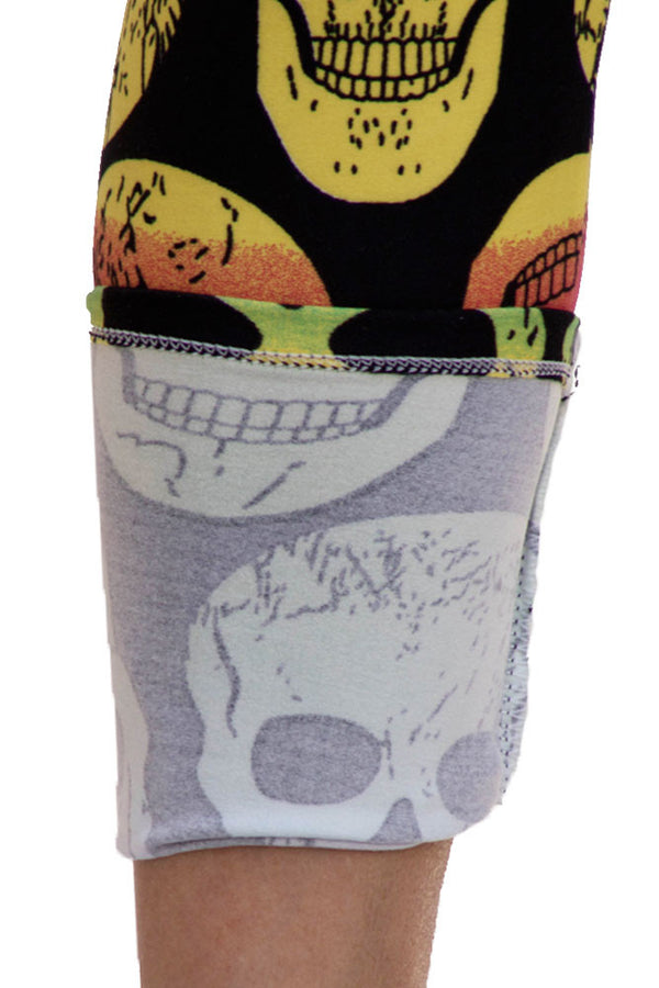 Women's Regular Skull Multi Colored Leggings