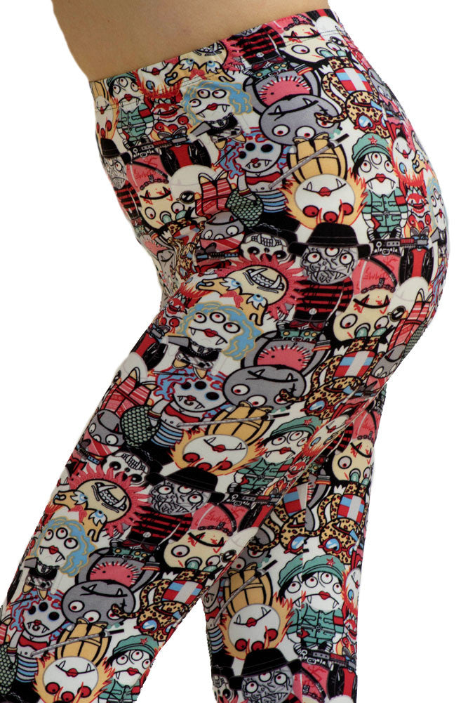 Women's Regular Character Monsters with Funny and Unique Pattern Leggings