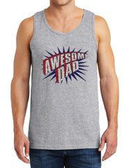 Men's Awesome Dad Heavy Cotton Tank Tops – XS ~ 3XL