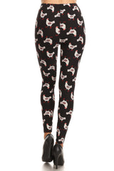Women's Regular Chicken with Eggs Pattern Printed Leggings