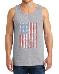 Men's American Flag Distressed Heavy Cotton Tank Tops – XS ~ 3XL