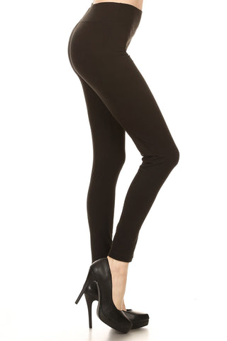 Women's Plus High Waist Solid Yoga Work Out Pants Leggings