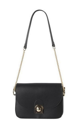 Designer Inspired Fashion Push Lock Crossbody Bag