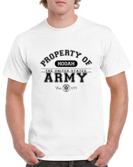 Men's Property of the United States Army Heavy Cotton Classic Fit Round Neck Short Sleeve T-Shirts – S ~ 3XL