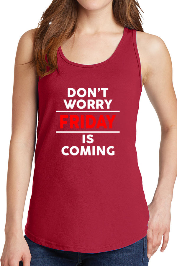 Women's Don't Worry Friday is Coming Core Cotton Tank Tops -XS~4XL