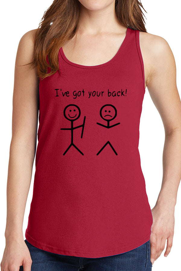 Women's I've Got Your Back Core Cotton Tank Tops -XS~4XL