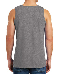 Create Your Own Text – Men Heavy Cotton Classic Fit Round Neck Tank Top – XS~3XL
