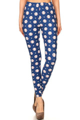 Women's Regular Baseball Stars Stripes Pattern Printed Leggings