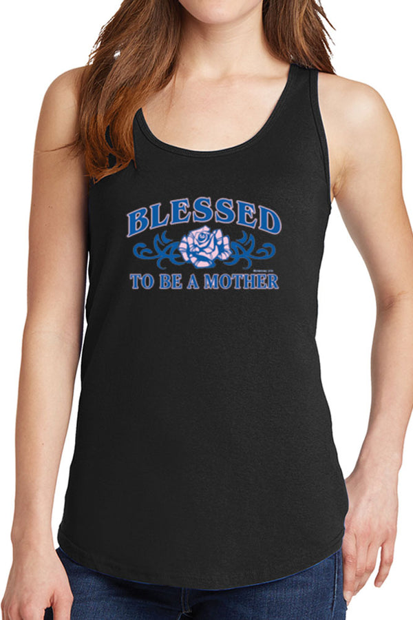 Women's Blessed to Be A Mother Core Cotton Tank Tops -XS~4XL