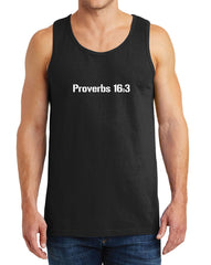 Men's Proverbs 16:3 Heavy Cotton Tank Tops – XS ~ 3XL