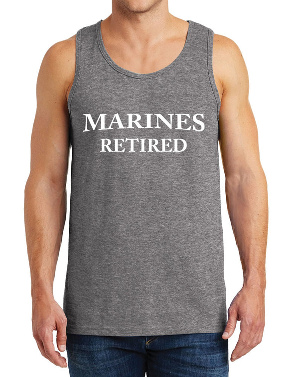Men's Marines Retired Design Heavy Cotton Tank Tops – XS ~ 3XL