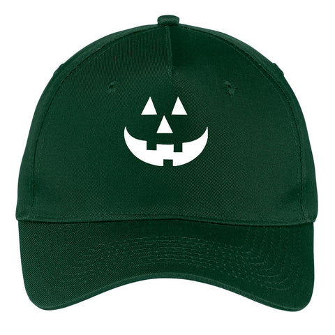 Pumpkin Glow in the Dark Graphic Printed 5 Panel Twill Caps for Men & Women