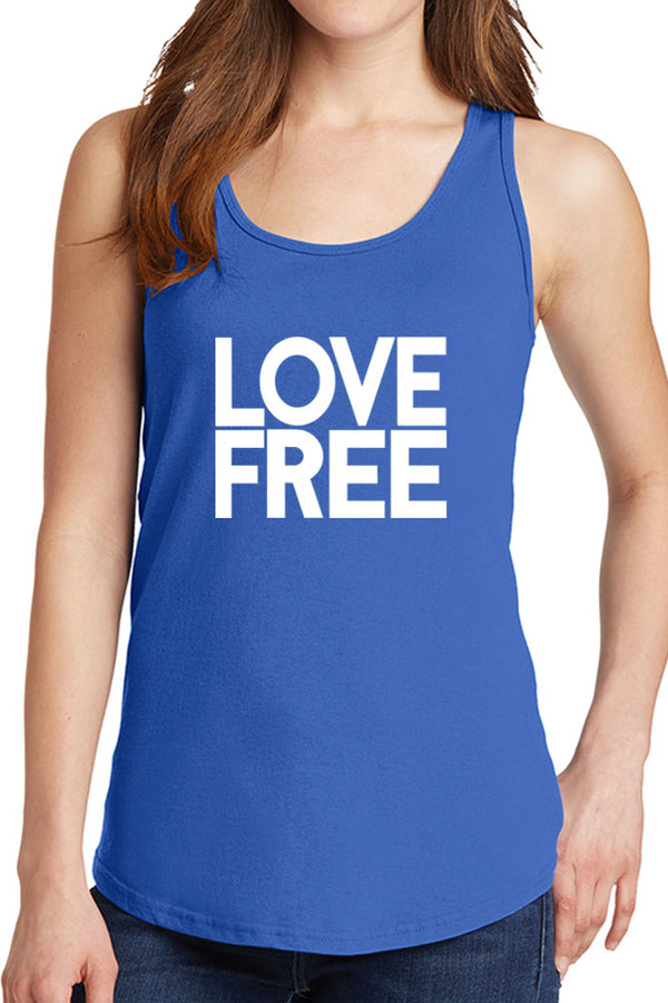 Women's Love Free Design Core Cotton Tank Tops -XS~4XL