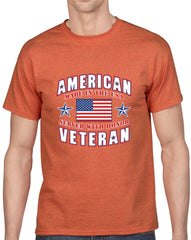 American Veteran Heavy Cotton Classic Fit Round Neck Short Sleeve T-Shirts – S ~ 3XL