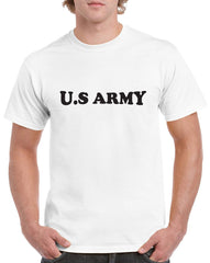 US Army with Arch Design Heavy Cotton Classic Fit Round Neck Short Sleeve T-Shirts – S~3XL