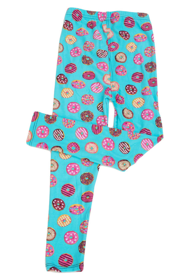 Kid's Donuts Yum Yum Pattern Printed Leggings