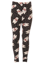 Kid's Polar Bear Snow Pattern Printed Leggings