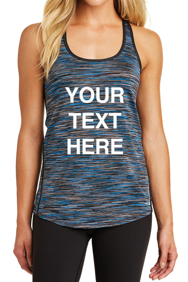 Create Your Own Text – Womens OGIO Endurance Verge Racerback Tank Top - XS ~ 4XL