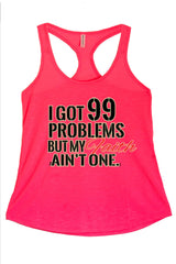 Women's I Got 99 Problems Graphic Print Polyester Tank Tops for Regular and PLUS - Small ~ 3XL