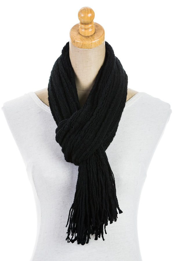 Women's One Size Knitted Stripe Two Toned Scarf