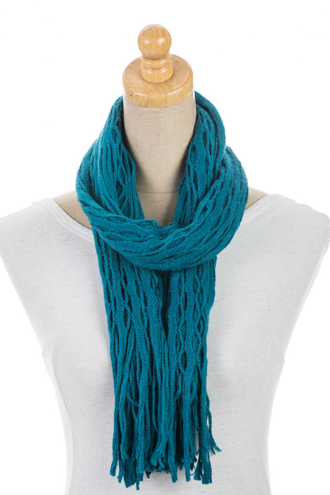 Women's One Size Sheer Cut Knitted Scarf