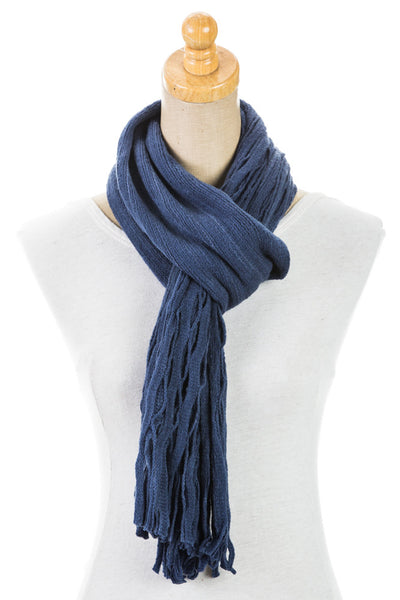 Women's One Size Plain Polyester Scarf